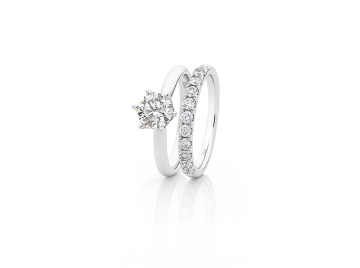 KTJ Signature Diamond Engagement and Wedding Ring Set.