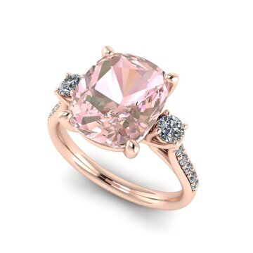 Morganite and Diamond Dress ring