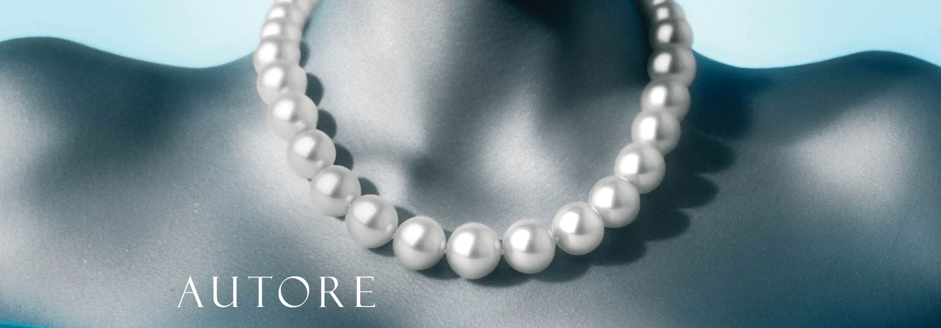 woman wearing pearl necklace by Autore Pearls