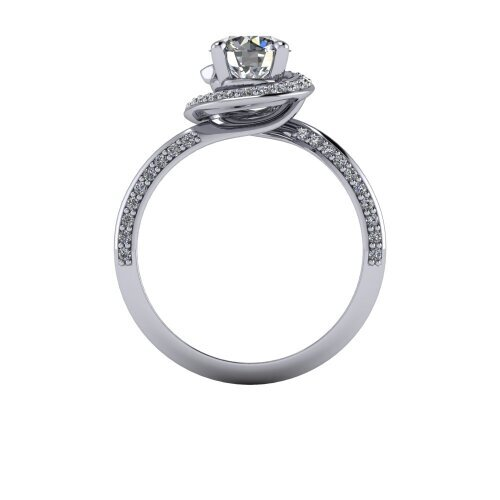 Twisted Pave Set Diamond ring
